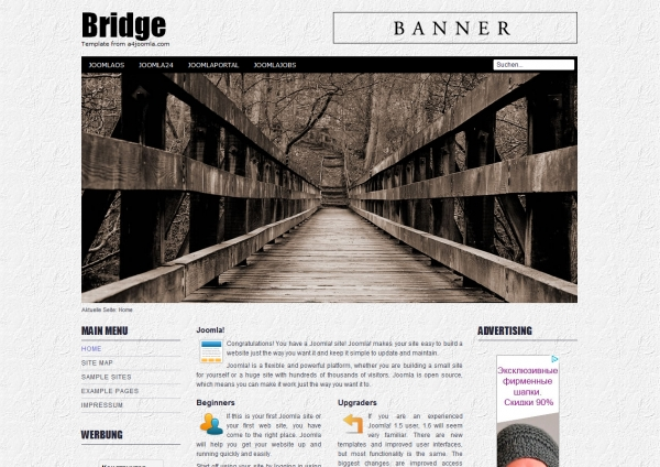 a4joomla Bridge Free: шаблон блога для Joomla 2.5