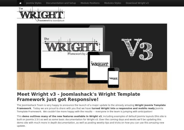 Wright Template Framework: универсальный шаблон для Joomla 2.5